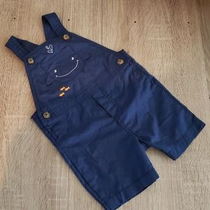 **5 for $15** New Carters Baby Whale Blue Overalls